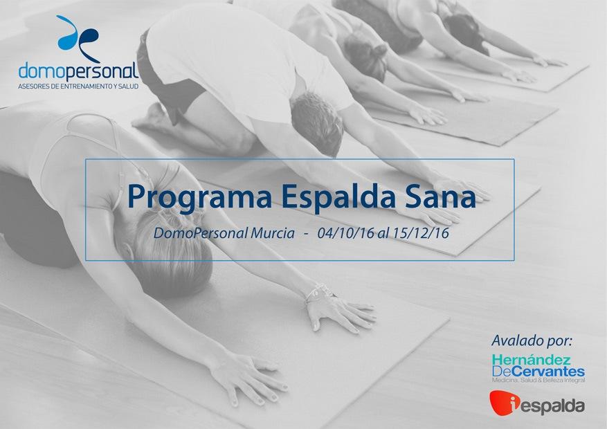 Programa espalda sana DomoPersonal Murcia
