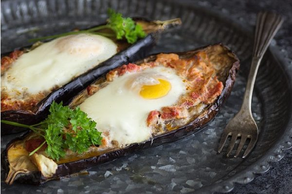Domo-Receta de otoño: Huevos al nido en berenjena