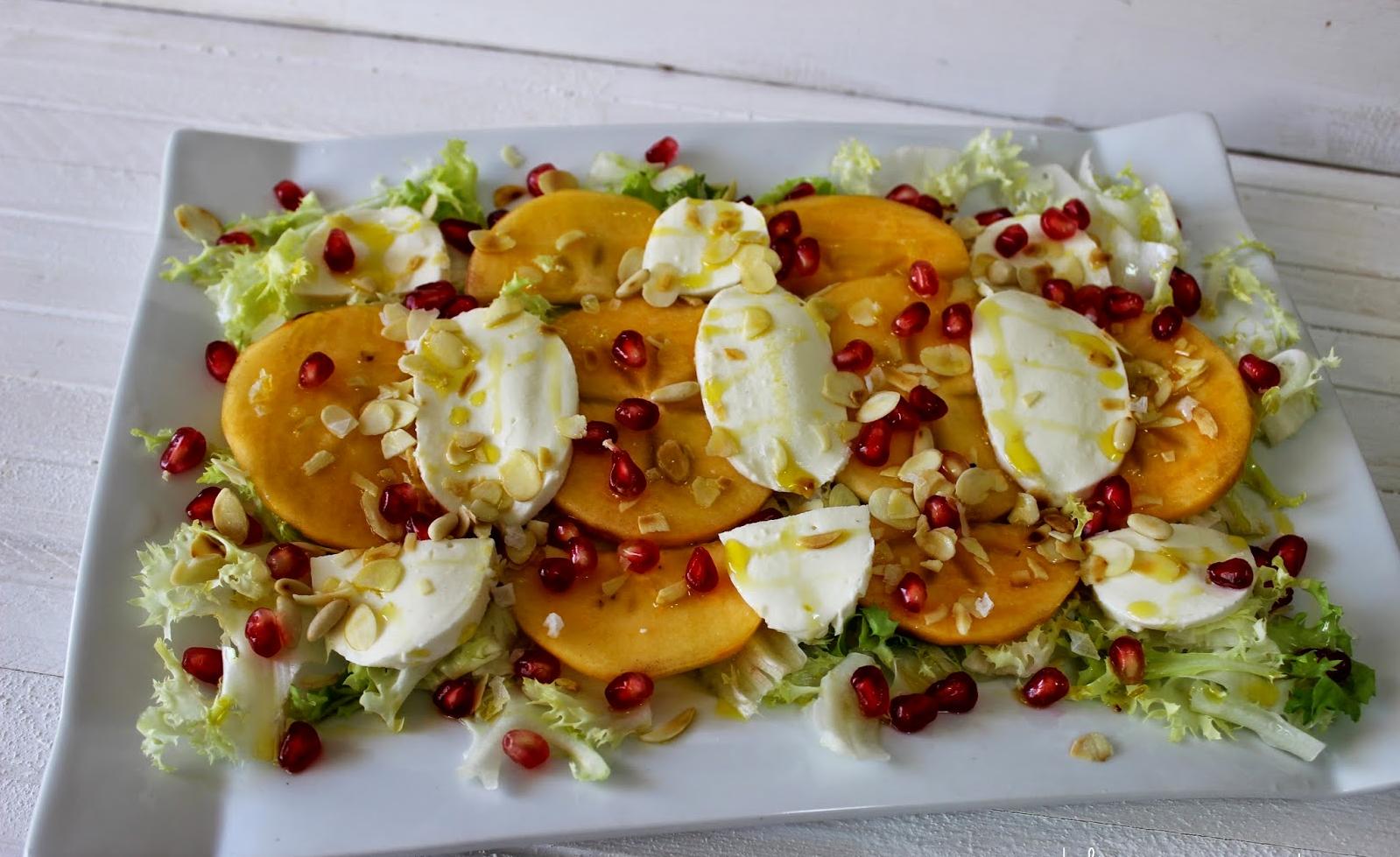 Domo-Receta de otoño: Ensalada de persimón y granada