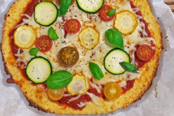DomoReceta: pizza con masa de coliflor