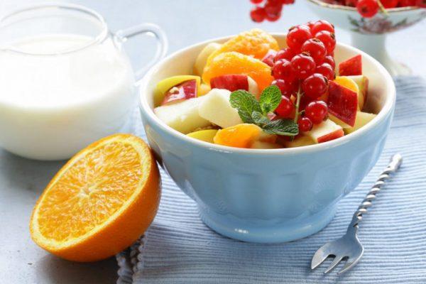 Receta ensalada de frutas y yogurt